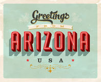 Vintage greetings from Arizona Vacation Card. Vintage vector greetings from Arizona vacation Card, with a realistic used and worn effect that can be easily Royalty Free Stock Photo