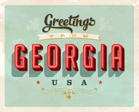Vintage greetings from Georgia Vacation Card. Vintage vector greetings from Georgia vacation Card, with a realistic used and worn effect that can be easily Stock Photo