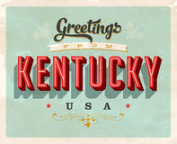 Vintage greetings from Kentucky Vacation Card. Vintage vector greetings from Kentucky vacation Card, with a realistic used and worn effect that can be easily Stock Image