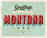 Vintage greetings from Montana Vacation Card Stock Photo