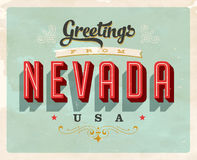 Vintage greetings from Nevada Vacation Card. Vintage vector greetings from Nevada vacation Card, with a realistic used and worn effect that can be easily removed Stock Images