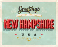 Vintage greetings from New Hampshire Vacation Card Stock Image