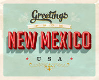 Vintage greetings from New Mexico Vacation Card. Vintage vector greetings from New Mexico vacation Card, with a realistic used and worn effect that can be easily Stock Images
