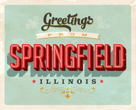 Vintage greetings from Springfield vacation card Royalty Free Stock Photo