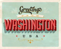 Vintage greetings from Washington Vacation Card. Vintage vector greetings vacation Card, with a realistic used and worn effect that can be easily removed for a Royalty Free Stock Photos