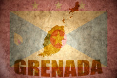 Vintage grenada map Stock Photo
