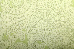 Vintage grey and green wallpaper with paisley pattern. Toned image Royalty Free Stock Images