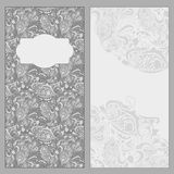 Vintage grey invitation Royalty Free Stock Photos