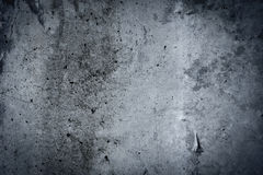 Vintage grey painted plaster concrete wall background. Dark edge Royalty Free Stock Photos