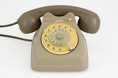 Vintage grey phone Stock Photography