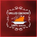 Vintage grilled chickens signage Stock Images