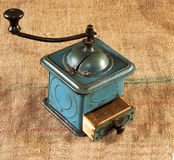 Vintage grinder with spices Stock Photography
