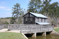 Vintage gristmill dam Royalty Free Stock Images
