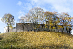 Vintage Grodno Castle Stock Photo