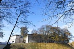 Vintage Grodno Castle Royalty Free Stock Images