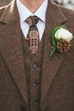 Vintage groom suit royalty free stock photography