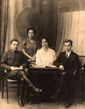 Vintage group portrait Royalty Free Stock Photo