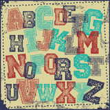 Vintage grunge alphabet  set Royalty Free Stock Photo