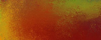 Vintage grunge background design in red orange gold and green with old rust texture surface royalty free illustration