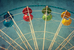 Vintage grunge background with ferris wheel Stock Photos
