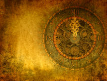 Vintage Grunge background, passing  time concept. Beautiful grunge illustration with patina Stock Image