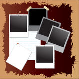 Vintage grunge background with polaroid frames Royalty Free Stock Photo