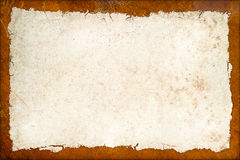 Vintage grunge background with rusty metal frame. Abstract texture backdrop Stock Photos
