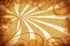 Vintage grunge background with swirls Stock Photography