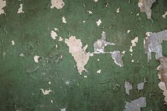 Vintage grunge background texture of old concrete wall with cracked weathered paint Royalty Free Stock Photography