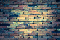 Vintage grunge brick wall background stock image