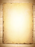 Vintage grunge burnt paper at wooden background. Copyspace Stock Photos