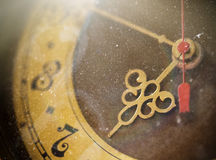 Vintage grunge clock face Royalty Free Stock Photography