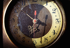 Vintage grunge clock face Stock Photos