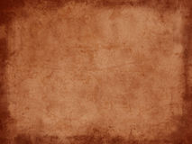 Vintage grunge dark brown paper with border Stock Photography