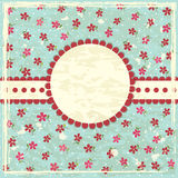 Vintage grunge floral background Royalty Free Stock Photos