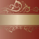 Vintage grunge gold frame Royalty Free Stock Images