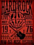 Vintage grunge guitar rock music poster. Fashion style Stock Photos