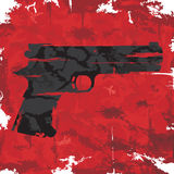 Vintage grunge gun graphic design. Vector Stock Photos