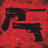 Vintage grunge guns graphic design. Vector Stock Image