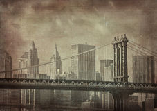 Vintage grunge image of new york city stock illustration