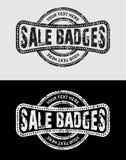 Vintage Grunge Logos Badges Stock Photo