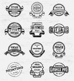 Vintage Grunge Logos Badges Royalty Free Stock Photo
