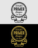 Vintage Grunge Logos Badges Stock Images