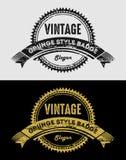 Vintage Grunge Logos Badges Royalty Free Stock Image