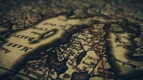 Old Vintage Paper Map. Vintage grunge map animation.Old Vintage Paper Map stock video