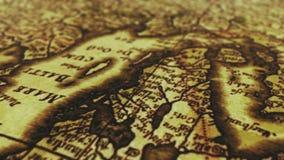 Old Vintage Paper Map. Vintage grunge map animation.Old Vintage Paper Map stock footage