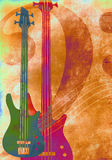 Vintage grunge music style background Royalty Free Stock Images