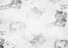 Vintage grunge newspaper collage background. Old grunge newspaper collage paper texture horizontal background. Blurred vintage newspaper background. Scratched Stock Image