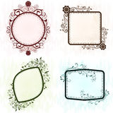 Vintage grunge ornate frames. Royalty Free Stock Photos
