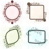 Vintage grunge ornate frames. Vintage grunge ornate frames set Royalty Free Stock Photos